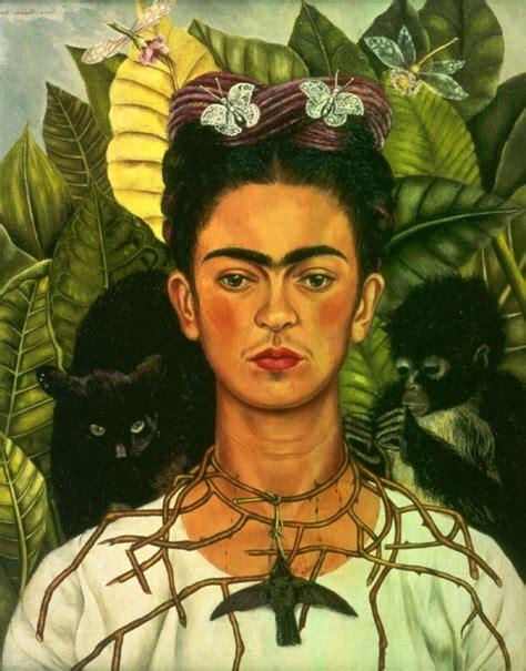 Frida Kahlo Selbstbildnis Mit Dornenhalsband exotische haustiere der bekannten schnauzen im spotlight