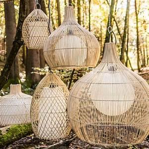 Abat Jour En Osier : suspension luminaire lampe avec abat jour osier 41 cm ~ Nature-et-papiers.com Idées de Décoration