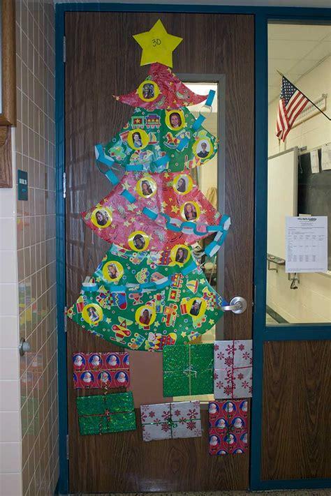 classroom doors show christmas spirit villa maria