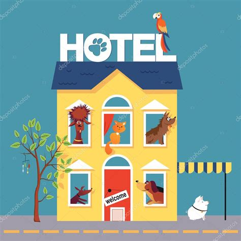 hotel clipart pet hotel stock vector 169 aleutie 105635622