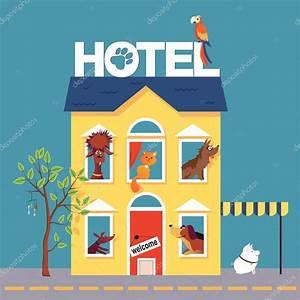 Cartoon Pet hotel — Stock Vector © Aleutie #105635622