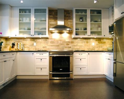 Brick Kitchen Cupboards by Also This Faux Brick Backsplash With The Lighting And