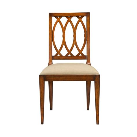 mahogany lattice back side chair dining kitchen chairs