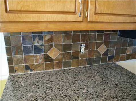 slate tile kitchen backsplash slate backsplash installation 5323