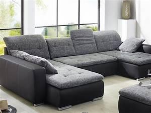 Couch Hocker Als Tisch : wohnlandschaft mit hocker ferun 365x220 185cm anthrazit schwarz sofa couch ebay ~ Bigdaddyawards.com Haus und Dekorationen