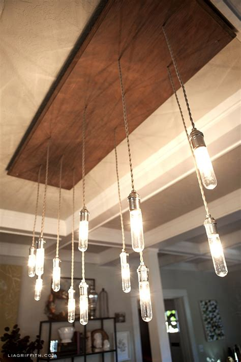 how to make an industrial edison style chandelier do it