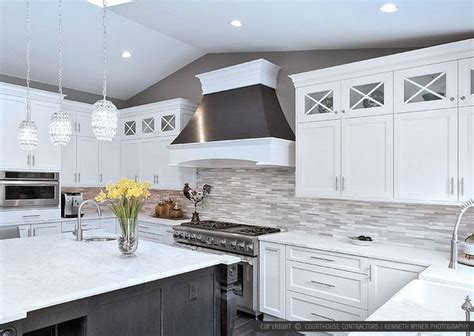 white kitchen grey backsplash 26 best images about kitchens on 1382