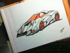 how to draw cars-Lamborghini Egoista - YouTube