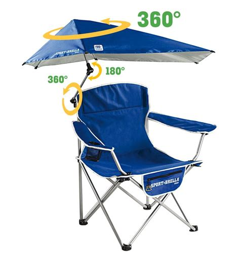 sport brella portable folding cing chair blue