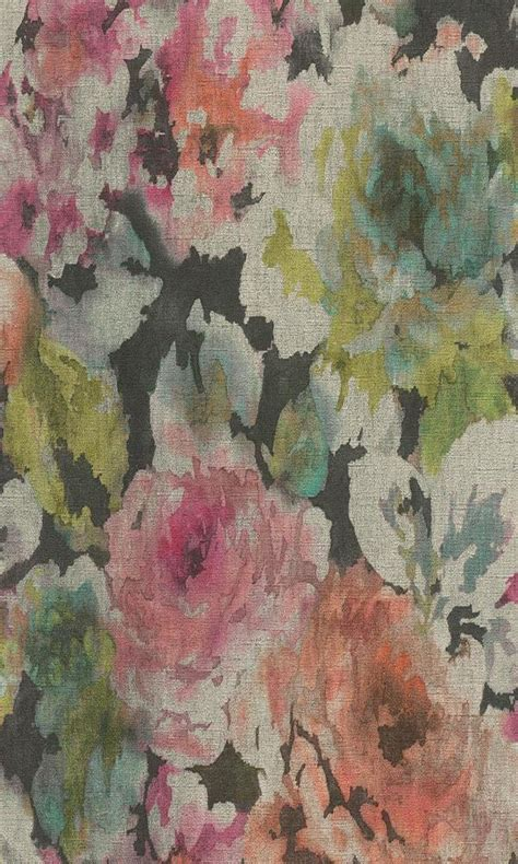 abstract watercolor splatters dark floral vintage bold