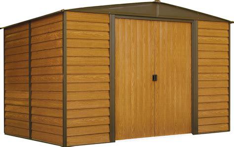 abri de jardin acier galvanis 233 imitation bois wr108 ed108