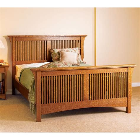 arts crafts bed mission style woodworking plan  wood magazine