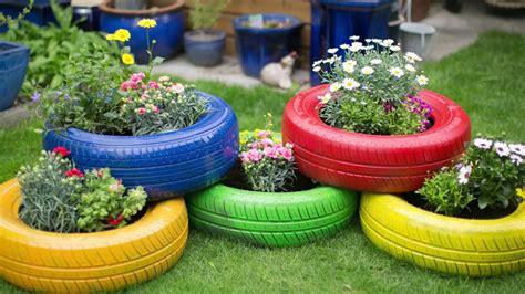 Gartendeko Aus Reifen by Upcycling Autoreifen