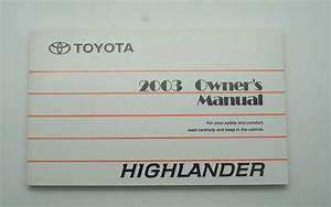 2008 Toyota Highlander Owners Manual Pdf
