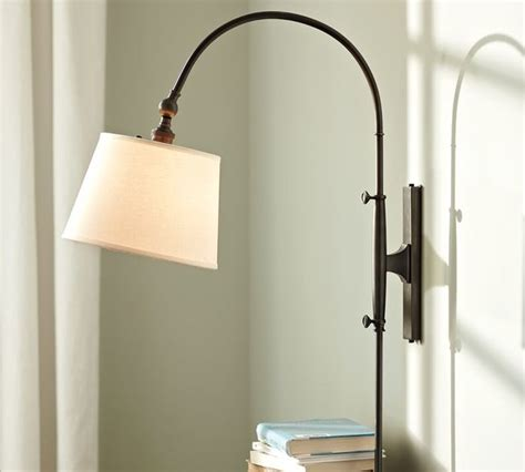 pottery barn arc l adjustable arc sconce modern swing arm wall ls by