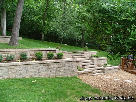 terraced retaining wall agape retaining walls inc terrace photo album 3