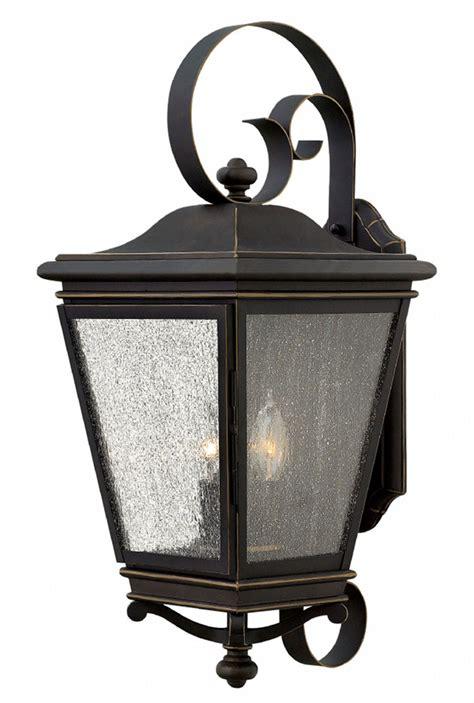 rubbed bronze outdoor light fixtures hinkley 2468oz lincoln rubbed bronze outdoor wall