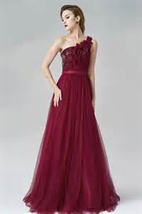 günstig rot a linie bodenlang ein schulter abendkleid aus tüll verkauf persun - Brautkleider Fã R Groãÿe Oberweite
