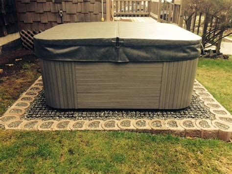 tub foundation gravel gravel grids hottub base shed parkingpad parking
