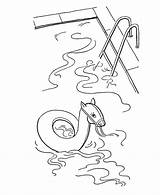 Coloring Pages Summer Swimming Pool Sheets Fun Activity Colouring Drawing Children Backyard Clipart Activities Sketch Printable Toddlers Bluebonkers Popular Getdrawings sketch template
