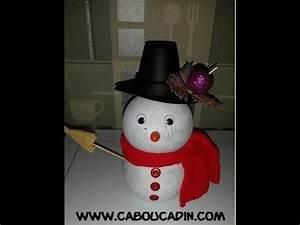 Deco De Noel Avec Bouteille En Plastique : bonhomme de neige avec bouteille en plastique youtube ~ Dallasstarsshop.com Idées de Décoration
