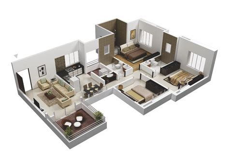 house blueprints 25 more 3 bedroom 3d floor plans architecture design