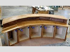 Follow Along In The Building Of A Rustic Curved Bar