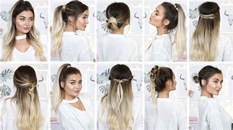 10 easy heatless back to school hairstyles youtube