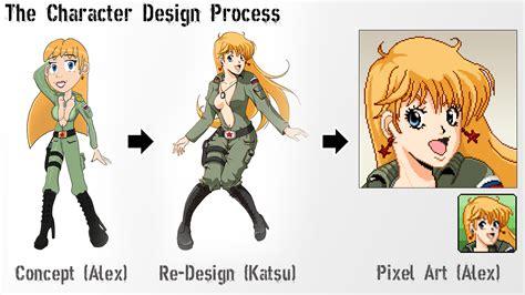 character design process katyusha image super tank