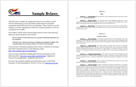 Bylaws Template 4 Free Bylaws Templates To Help You Write Bylaws In Best