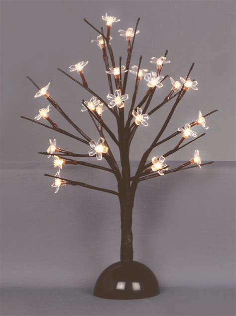 battery operated tree lights premier 35cm battery operated light up cherry blossom tree