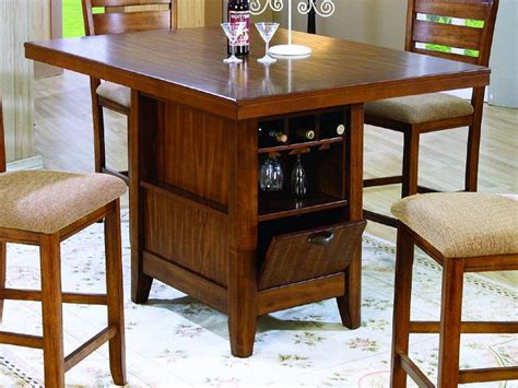 kitchen table wine storage kitchen counter height kitchen tables with storage