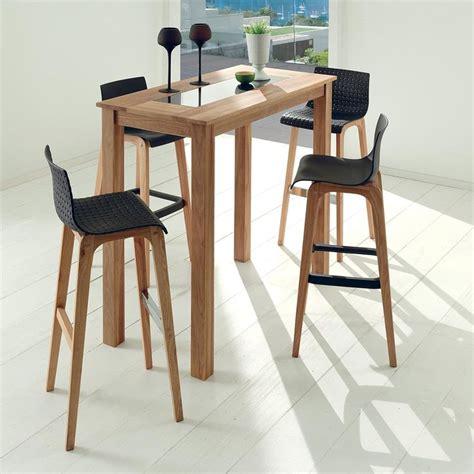 table ronde bois avec rallonge les 25 meilleures idées de la catégorie table haute bar