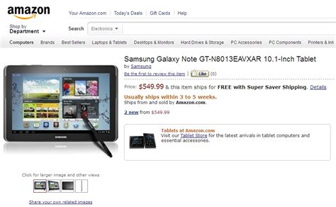 samsung galaxy note 10 1 pre order goes live ships in 3 to 5 weeks