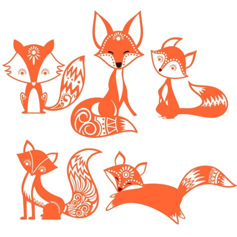 Fox svg svg fox animal decoration symbol icon cartoon nature element background decorative wild wildlife tree cute ornament emblem decor leaf natural drawing style wilderness leaves forest ornate season colorful template outline sketch adorable lovely plant animals snow color multicolored texture. Cute Fox Cuttable Design
