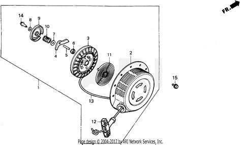honda eb5000x a generator jpn vin ea7 3000001 parts diagram for recoil starter