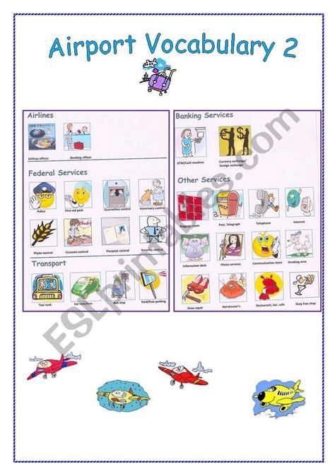 english worksheets airport vocabulary
