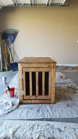 ana white dog crate  table diy projects
