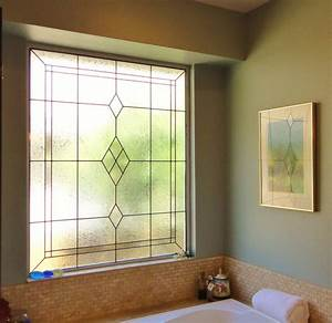 beautiful stained glass for your bathroom With bathroom window glass styles