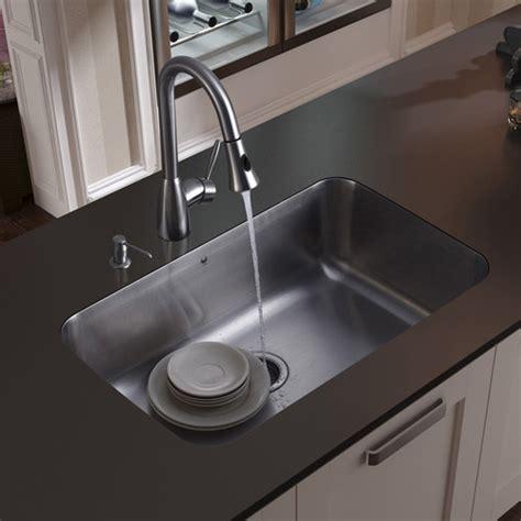 kitchen sink undermount soap dispenser vigo 30 quot x 18 quot undermount kitchen sink with faucet