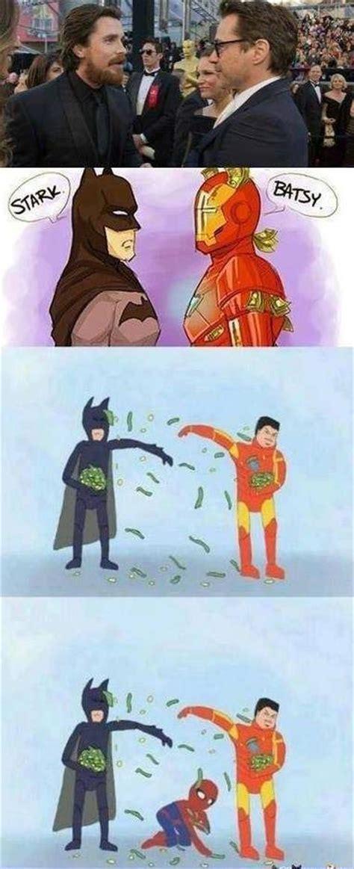 tony stark batman  bruce wayne iron man buz