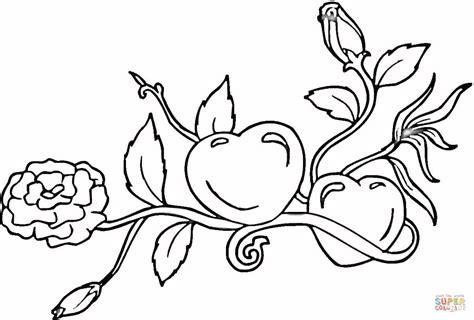 Ausmalbild Herzen Und Rosen Ausmalbilder Kostenlos Zum
