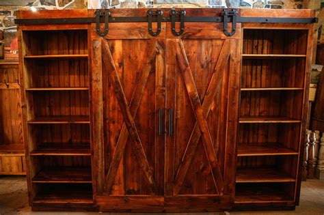 Barn Door Entertainment Cabinet   Rustic   Entertainment Centers And Tv Stands   Philadelphia