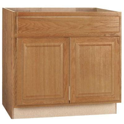 hampton bay xx  hampton sink base cabinet  medium oak ksb mo  home depot