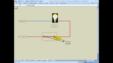 circuito conexion una luz simple youtube