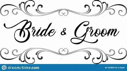 Groom Bride Clip Scroll Bruidegom Bruid Sposo