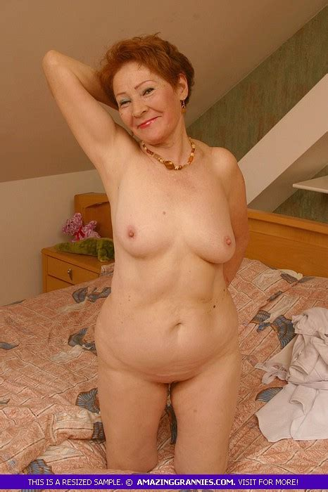 Redhead Granny Slowly Peels Off Her White P Xxx Dessert Picture 8