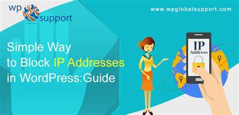 simple   block ip addresses  wordpress guide
