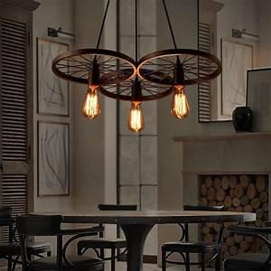Deckenlampe Für Wohnzimmer : lixada retro pendelleuchte ministil rustikal l ndlich vintage insel f r wohnzimmer schlafzimmer ~ Frokenaadalensverden.com Haus und Dekorationen