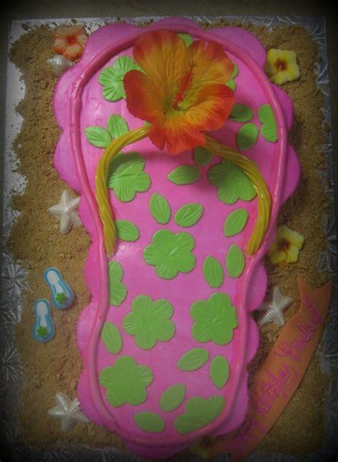 flip flop cupcake cake  summer birthday parties
